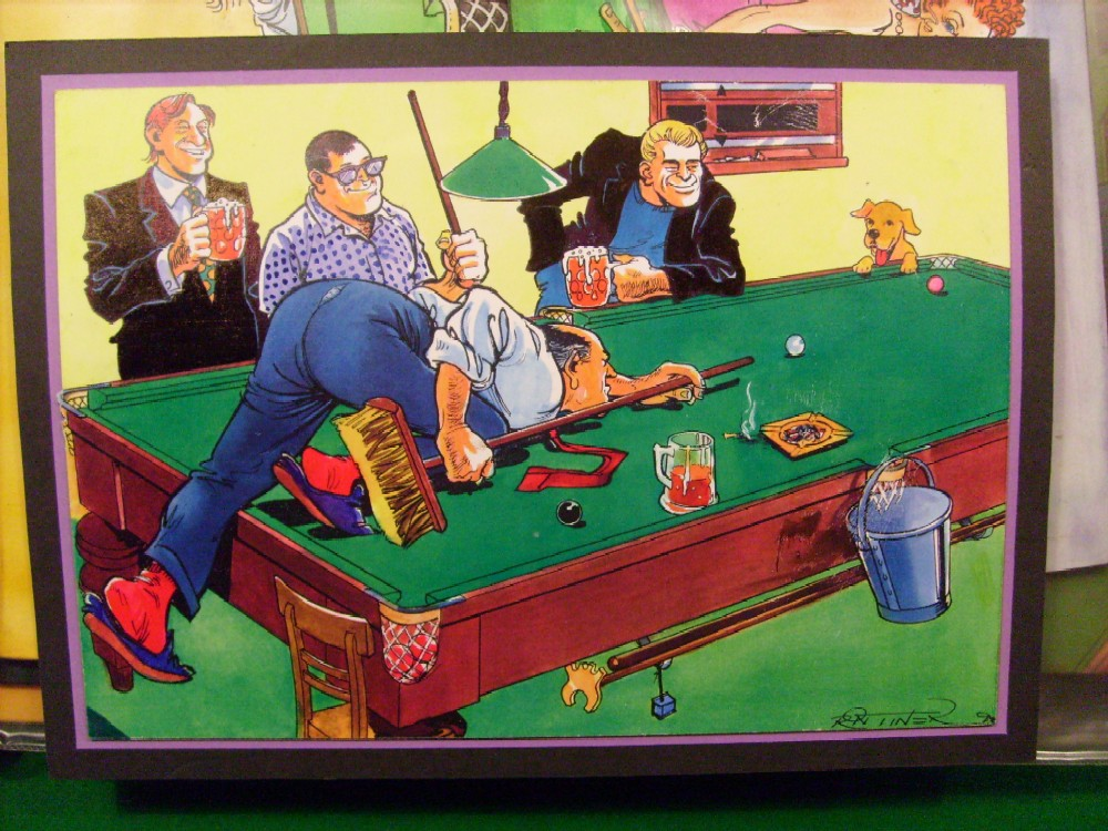Cartoon Paintings West Of England Billiards Amp Snooker