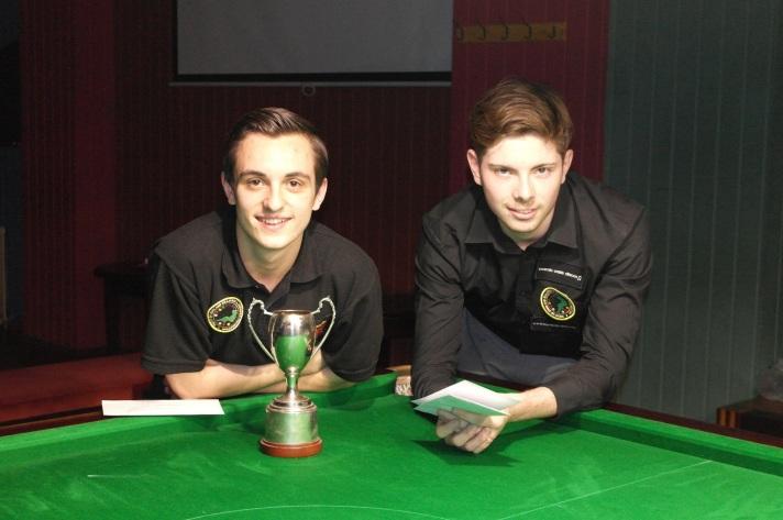 West of England Open Snooker 2014 - Finalist Winner Haydon Pinhey - Runner-up and Highest Break (120) Harvey Chandler