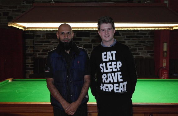 West of England Open Snooker 2014 - Plate Finalist Winner Hassan Vaisie and Runner-up Dan Legassick