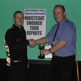 Gold Waistcoat Tour Event 1 Runner-up 2005-6