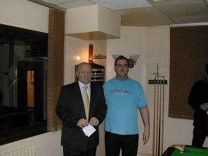 Silver Waistcoat Event 3 Tournament Director Keith Millard with Paul Williams 2004