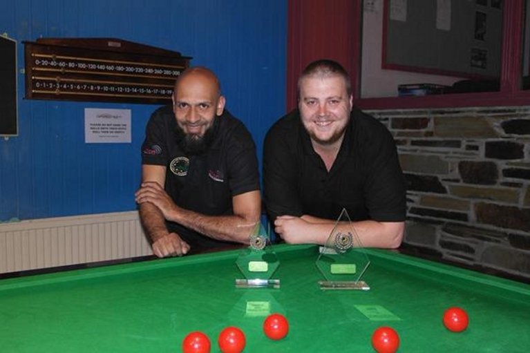 Gold Waistcoat Tour Event 1 finalists - Hassan Vazie & Andy Symons 2015-16