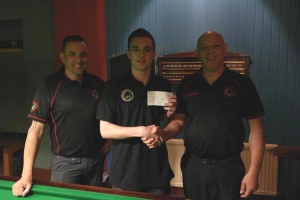 Haydon receiving cheque