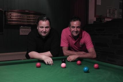 Steve Downing & Eddie Manning WOE Open Snooker Finalists 2015