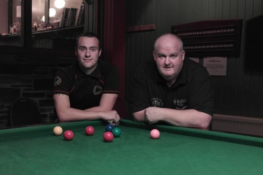 Aiden Johns & Johnhny Watters - WOE Open Snooker Plate Finalists 2015