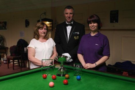 Ladies Open Snooker finalists - Maggie Baugh & Stacey Graham 2015-16