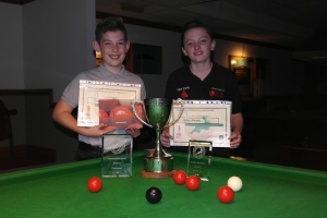 West of England Bronze Waistcoat Open Snooker Championship Finalists - Winner Liam Davies & Runner-up Aidan Murphy 2016