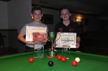 West of England Bronze Waistcoat Open Snooker Championship Finalists - Winner Liam Davies & Runner-up Aidan Murphy 2016