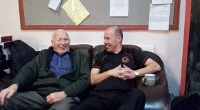 Chuckling with the Master Cueman