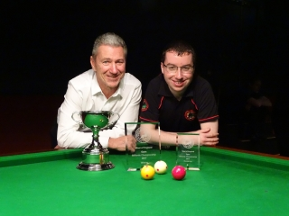 WOE Open Billiards finalists - Dave White & Chris Coumbe 2016-17