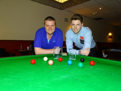 Gold Waistcoat Tour Event 5 finalists - Andy Symons (Winner) & Harvey Chandler (Runner-up) 2016-17