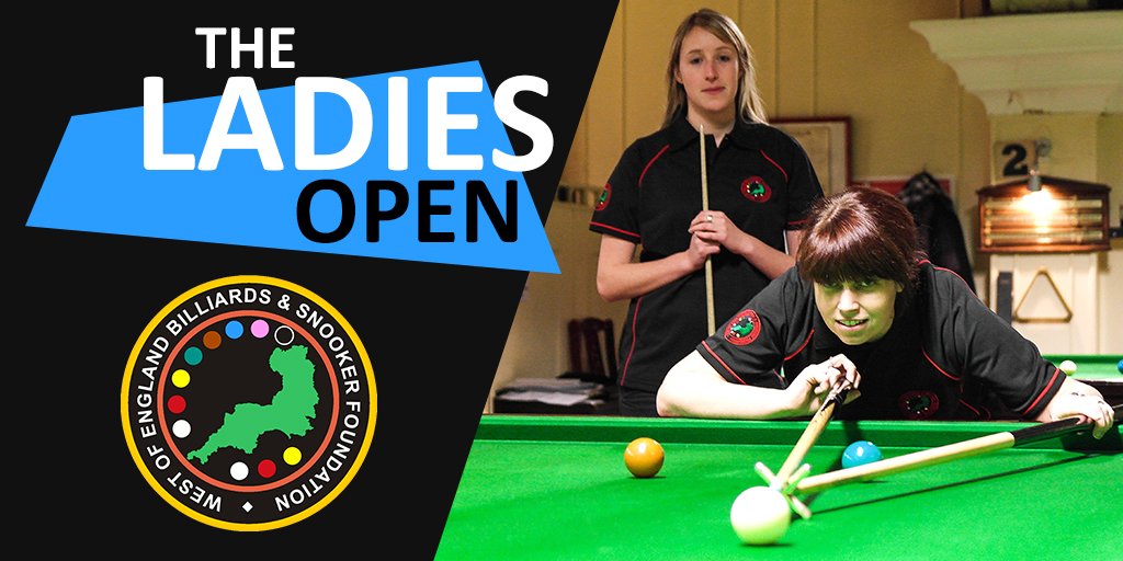 Ladies Snooker Open Social Media Graphic