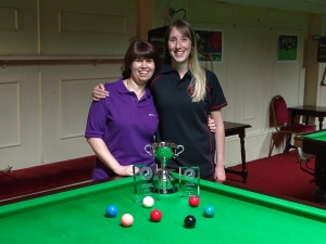 Ladies Snooker Open Finalists - Stacey Graham & Sophie 2017