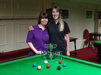 Ladies Snooker Open Finalists - Stacey Graham & Sophie 2017
