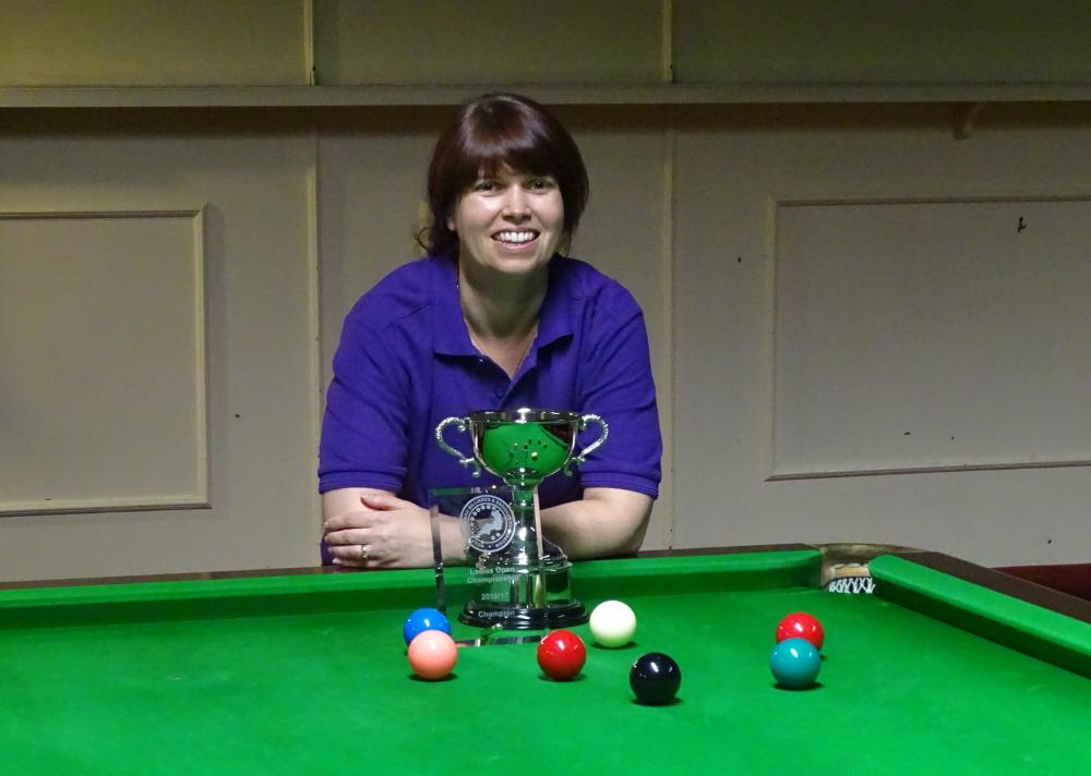 Ladies Snooker Open Winner - Stacey Graham 2017