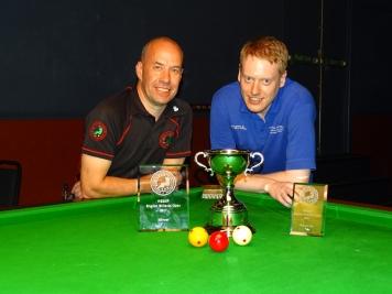 WEBSF English Billiards Open finalists - Steve Brookshaw & Ryan Mears 2017-18