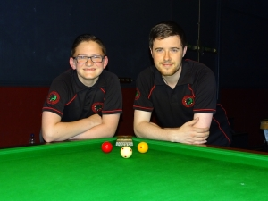 WEBSF English Billiards Open Plate finalists - Ben Freeman & Dale Branton 2017-18