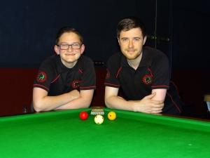 WEBSF English Billiards Open Plate finalists - Ben Freeman & Dale Branton 2017-18