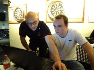 Steve Canniford & Sam Baird New TD in training