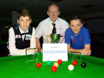 Bronze Snooker Open Finalists with Tournament Sponsor 2017-18