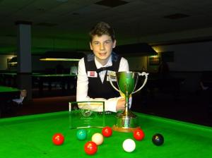 Bronze Snooker Open Winner - Connor Benzey 2017-18