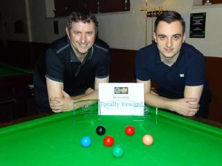 Gold Series Event 3 Finalists - Winner Andy Neck, Runner-up Haydon Pinhey 2017-18
