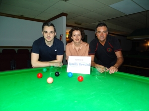 Gold Series Event 4 Finalists - Winner Haydon Pinhey and Runner-up Eddie Manning 2017-18 (with Gold Series Sponsor)