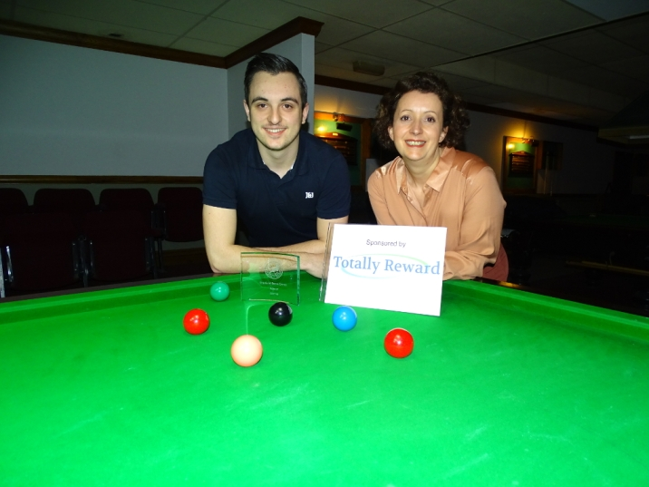 Gold Series Event 4 Winner - Haydon Pinhey 2017-18 (with Gold Series Sponsor)
