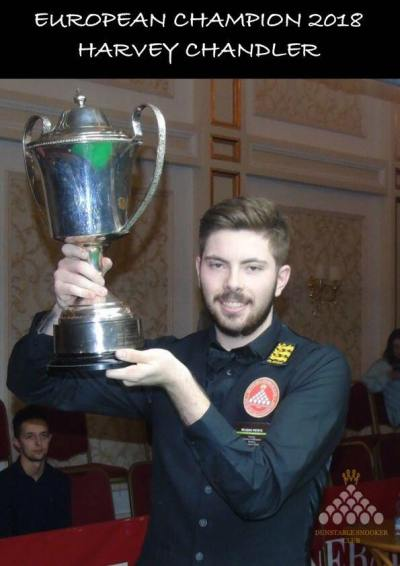 Harvey Chandler European Mens Snooker Champion 2018