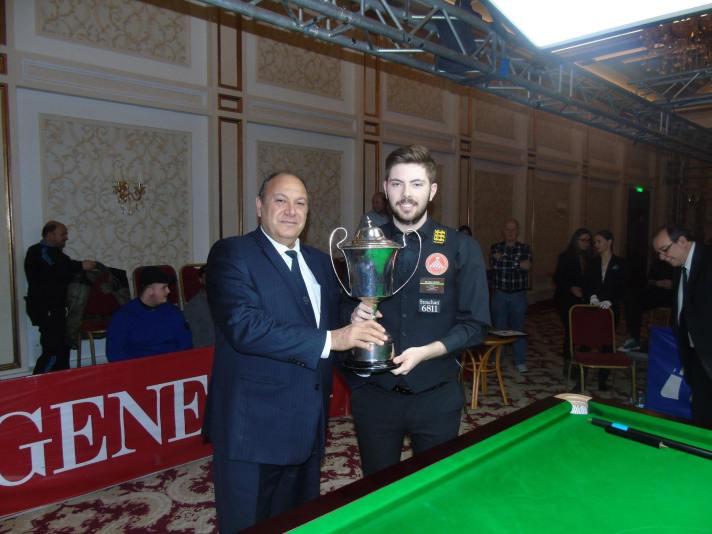 Harvey Chandler European Mens Snooker Champion 2018