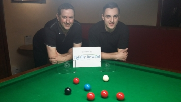 Gold Series Event 6 Finalists - Winner Andy Neck & Runner-up Haydon Pinhey 2017-18