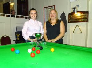 Ladies Snooker Open 2018 Finalists - Winner Chloe White & Runner-up Louise Cordrey