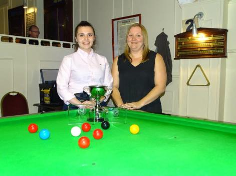 Ladies Snooker Open 2018 Finalists - Winner Chloe White & Runner-up Louise Cordrey