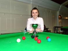 Ladies Snooker Open Winner Chloe White 2018