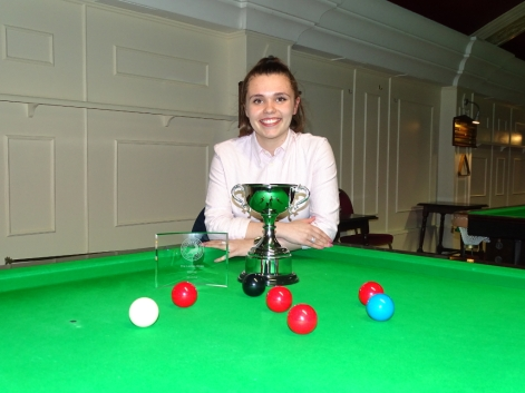 Ladies Snooker Open Winner Chloe White 2018