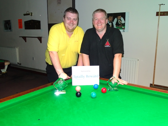 Gold Series Event 1 Finalists - Winner Andy Symons and Runner-up Alan Tunney 2018-19
