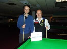 West of England Snooker Open 2018 - Plate Finalists Daniel Hall Runner-up & Steve Brookshaw Winner