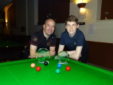 Gold Series Event 2 Winner Steve Brookshaw Runner-up Connor Benzey - 2018-19