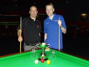 WEBSF Billiards Open Finalist 2018-19 - Steve Brookshaw winner & Ryan Mears Runner-up