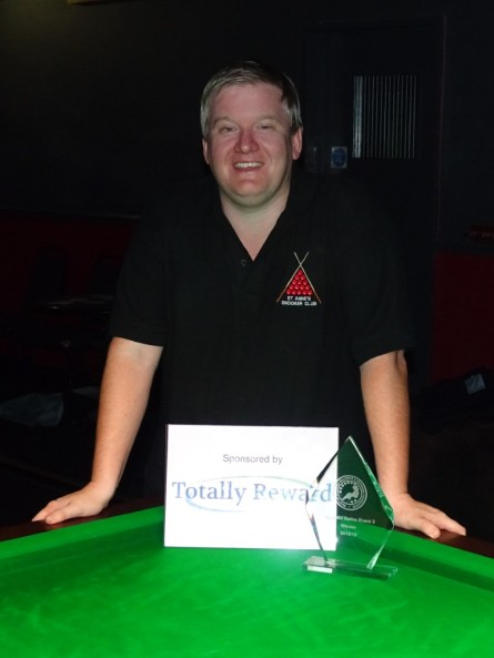 Gold Series Event 3 Winner Alan Tunney - 2018-19