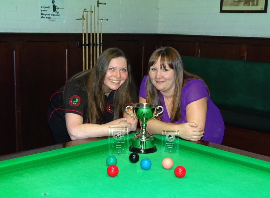WEBSF Ladies Snooker Open Finalists - Traci Wannell (Winner) & Louise Cordery (Runner-up) 2019