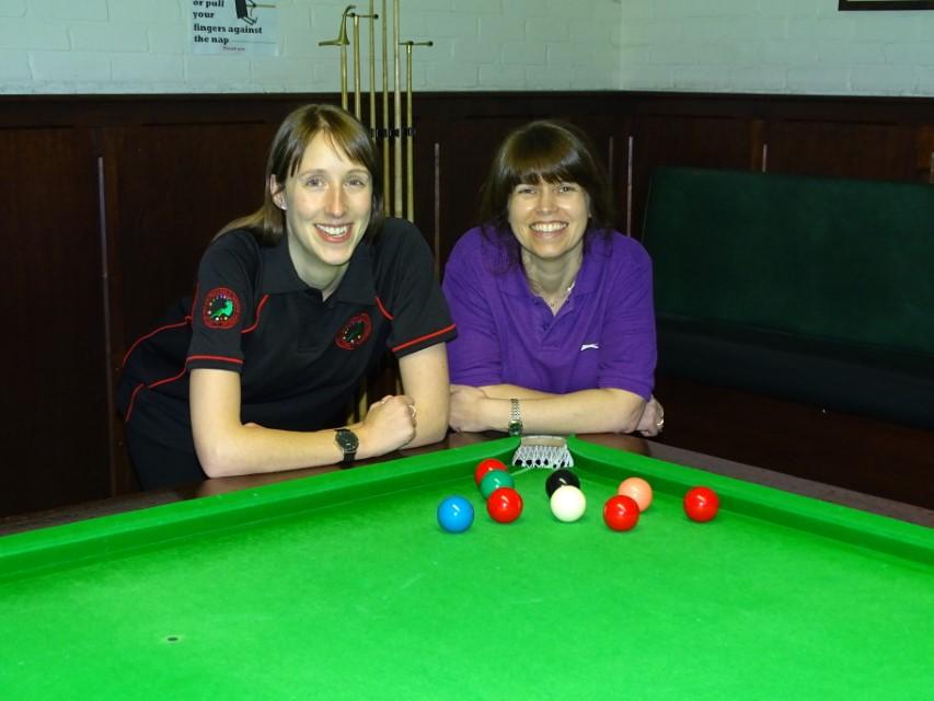 WEBSF Ladies Snooker Open Plate Finalists - Sophie Gibbs-Nicholls (Winner) & Stacey Graham (Runner-up) 2019