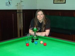 WEBSF Ladies Snooker Open Winner - Traci Wannell 2019