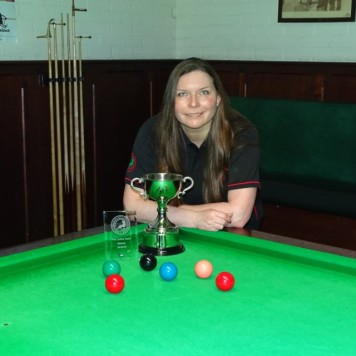 WEBSF Ladies Snooker Open Winner - Traci Wannell 2019