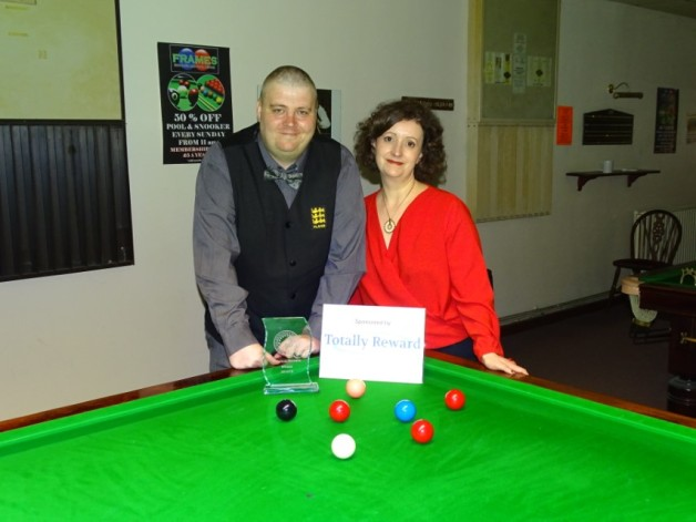 WEBSF Gold Masters Winner - Andy Symons with Event Sponsor 2019