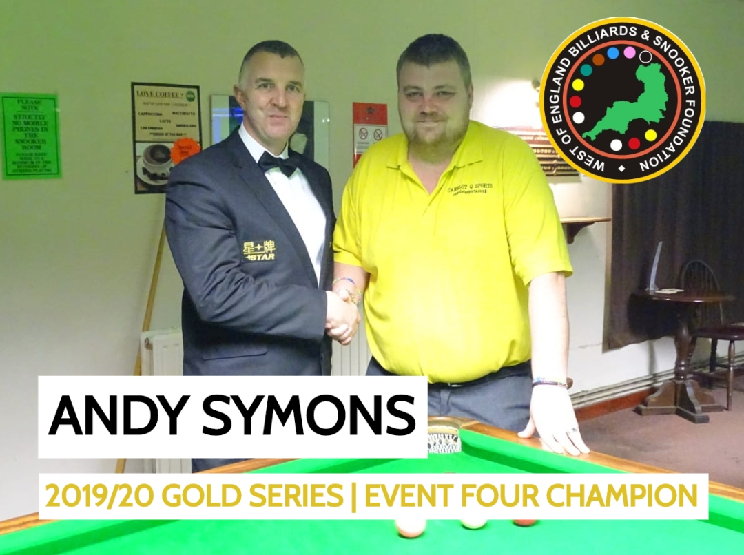 Gold Series Event 4 Winner Andy Symons 2019-20